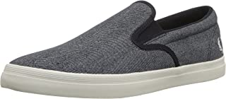 Fred Perry Men's Underspin Slip-on Printed CNV Sneaker