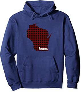 WISCONSIN IS HOME BUFFALO PLAID STATE PRIDE HOODIE
