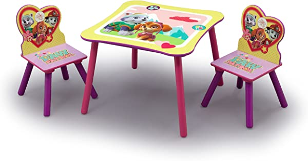 Nick Jr PAW Patrol Skye And Everest Kids Table And Chairs Set By Delta Children