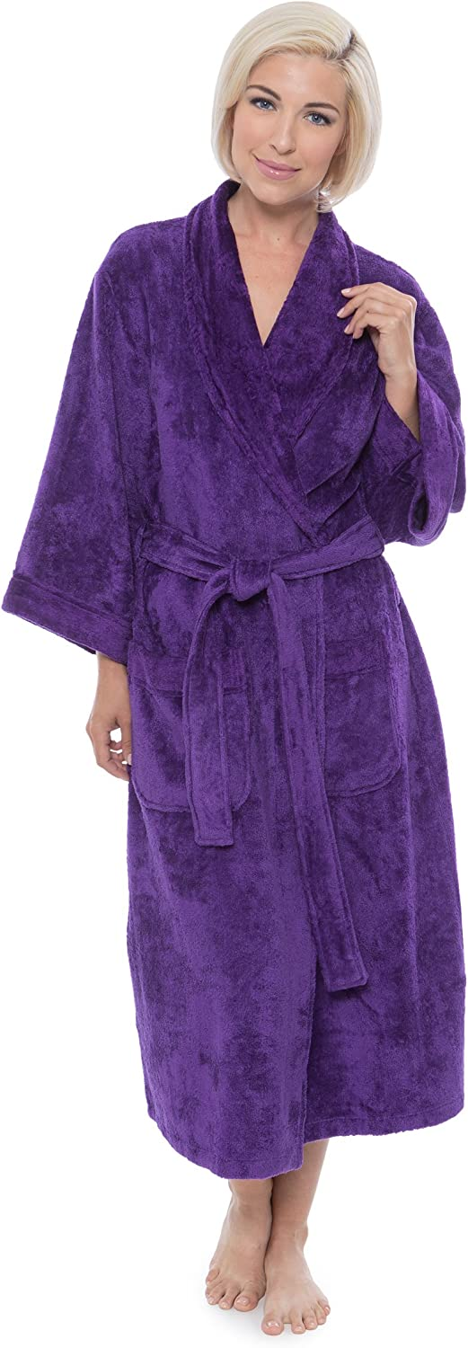Women's Terry Cloth Bath Robe  Luxury Comfy Robes by Texere (Sitkimono)
