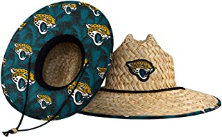 FOCO Men's Team Logo Floral Straw Sun Hat