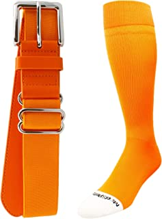 23e72ea675a MadSportsStuff Pro Line Softball Socks and Belt Combo Youth and Adult