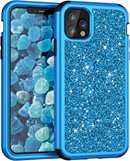 iPhone 11 Pro Max Case, UZER Three Layer Shockproof Luxury Glitter Sparkle Bling Diamond Hard PC Soft Silicone Combo Hybrid Impact Defender Full-Body Protective Case for iPhone 11 6.5