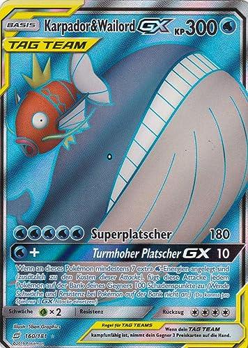 160 181 - Karpador & Wailord GX - Ultra Rare GX - Pokemon - Deutsch - Teams sind Trumpf