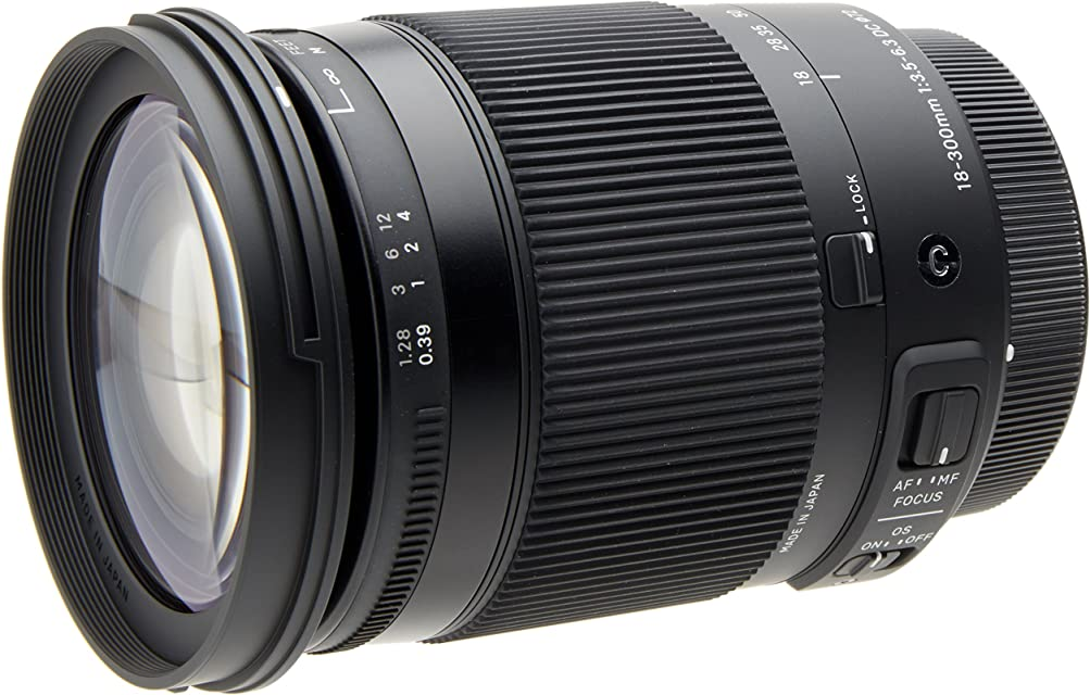 Sigma 886954 - Objetivo para cámara 18-300 mm F3.5-6.3 DC Macro OS HSM (C) para Canon