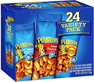 Planters Nut 24 Count-Variety Pack, 2 Lb 8.5 Ounce carrier to shipping international usps, ups, fedex, dhl, 14-28 Day By D...