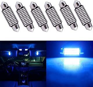 cciyu 6Pack Super Bright Canbus Blue Error Free 211-2 212-241-42mm(1.65