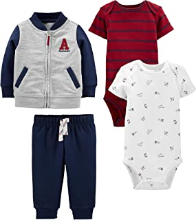 Simple Joys by Carter's 4-Piece Fleece Jacket, Pant, And Bodysuit Set Bimbo 0-24