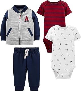 Simple Joys by Carter's 4-Piece Fleece Jacket, Pant, and Bodysuit Set Bébé garçon
