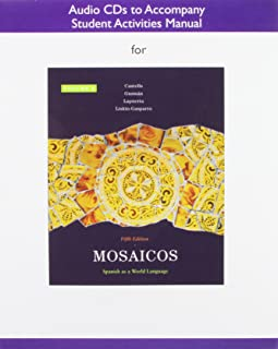 Audio CDs for Student Activities Manual for Mosaicos, Volume 2