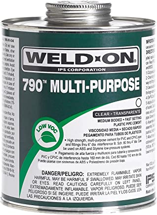 Weld-On 10260 1/4 Pint 790 Multi-Purpose PVC Cement, Clear