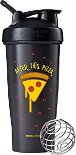 BlenderBottle C02735 Just for Fun Classic 28-Ounce Shaker Bottle, After This, Pizza