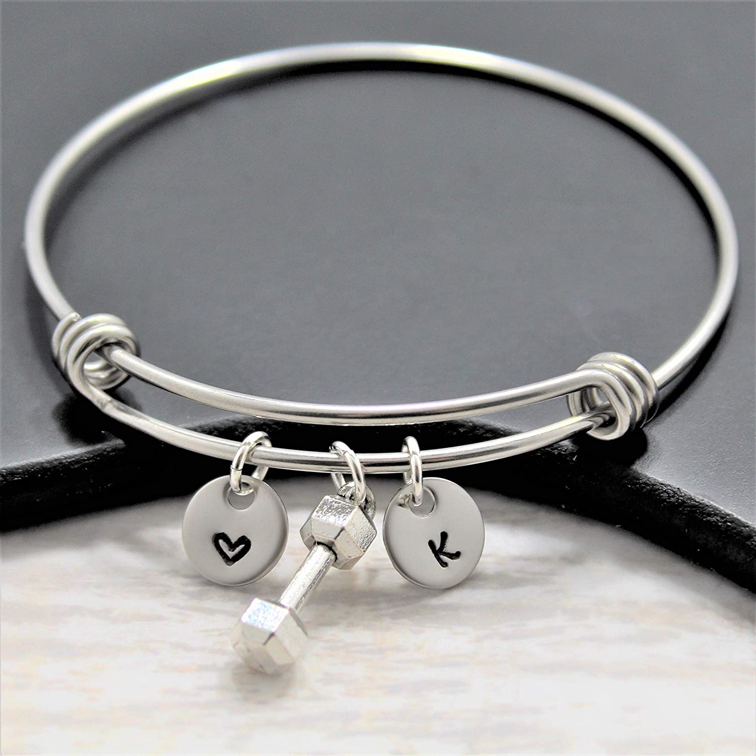 Dumbbell Charm Workout Bracelet for Women Personalized - Girls Max Max 57% OFF 50% OFF