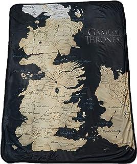 "Rabbit Tanaka Game of Thrones 46"" X 60"" Map of Westeros Fleece Throw Blanket"