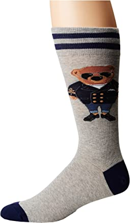 Polo Ralph Lauren Combed Cotton Millennial Commodore Bear Socks