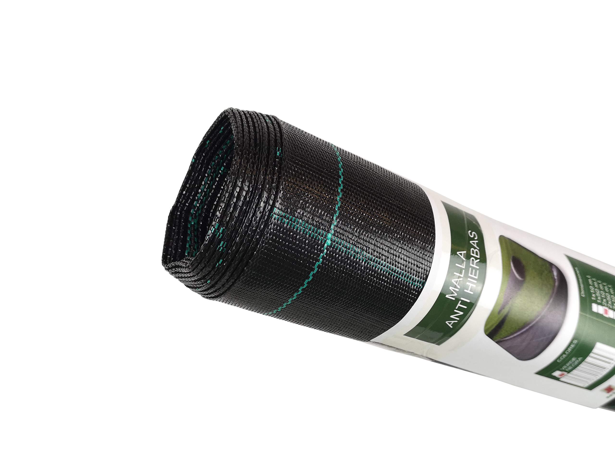 Seinec Malla//Tela Antihierbas Negra 50m/² 1 x 50m Resistente a Roturas con Protecci/ón UV para el Control de Maleza en Jard/ín y Huertos Ecol/ógicos Ocultaci/ón Polipropileno PP