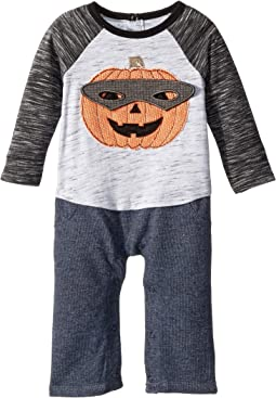 Halloween Pumpkin Long Sleeve One-Piece Playwear (Infant)
