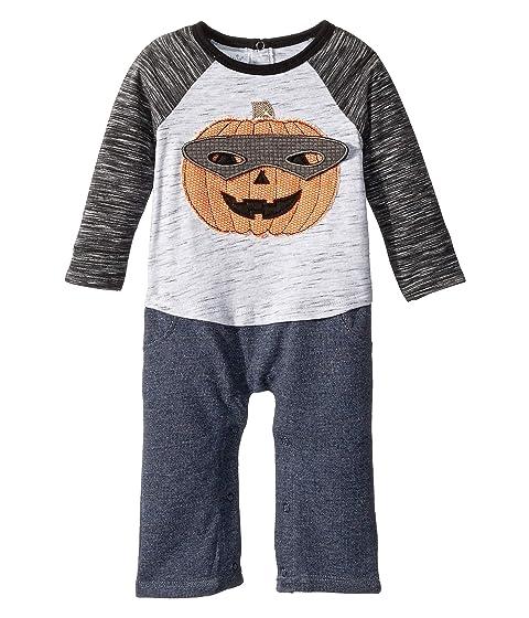 Halloween Pumpkin Long Sleeve One-Piece Playwear (Infant)
