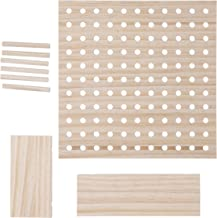 Darice Pegboard System: Wooden Pegboard Kit, Unfinished, 11.5 x 11.5 Inches, 9 Pieces