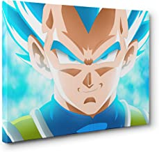 OneCanvas DRAGON BALL Z VEGETA SUPER SAIYAN CANVAS PRINT POSTER WALL ART (Small - 12x18in.)
