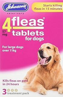 Johnsons Vet 4fleas Tablets for Dogs 3 Treatment Pack - D092