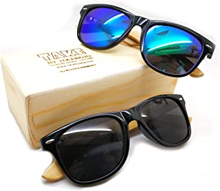 f2897cf07b4 buy one get one free Take by TAKEMOTO handamde bamboo wood wooden polarized  sunglasses for moman