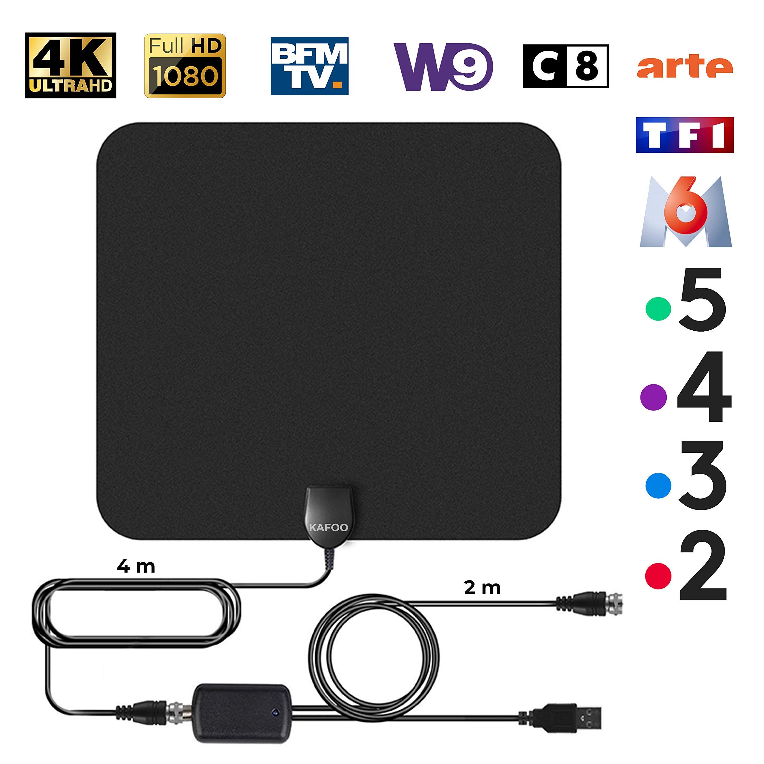Antena TV Interior Potente, amplificador antena tv, para recepción ...