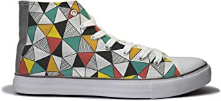 Rivir Latest & Stylish Printed Canvas High Top Sneakers Shoes for Men & Women