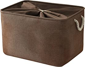 TheWarmHome Large Storage Basket Rectangular Basket Cloth Basket Towel Basket Shoe Basket Fabric Storage Bin Basket for Do...