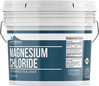 Magnesium Chloride (1 Gallon) by Earthborn Elements, Resealable Bucket, Highest Quality, Edible Oral Supplement, Food & US...