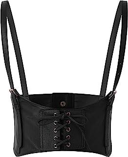 SCARLET DARKNESS Women Elastic Faux Leather Belt Fashion Cincher Belt Corset
