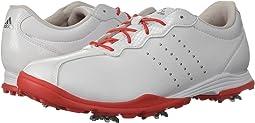 Footwear White/Real Coral/Silver Metallic