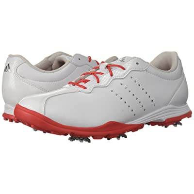 adidas Golf Adipure DC (Footwear White/Real Coral/Silver Metallic) Women