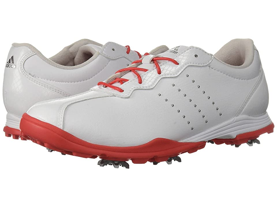 adidas Golf Adipure DC (Footwear White/Real Coral/Silver Metallic) Women's Golf Shoes