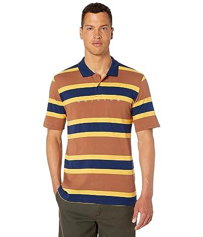 Brixton Cantor Short Sleeve Polo (Brown/Navy) Men
