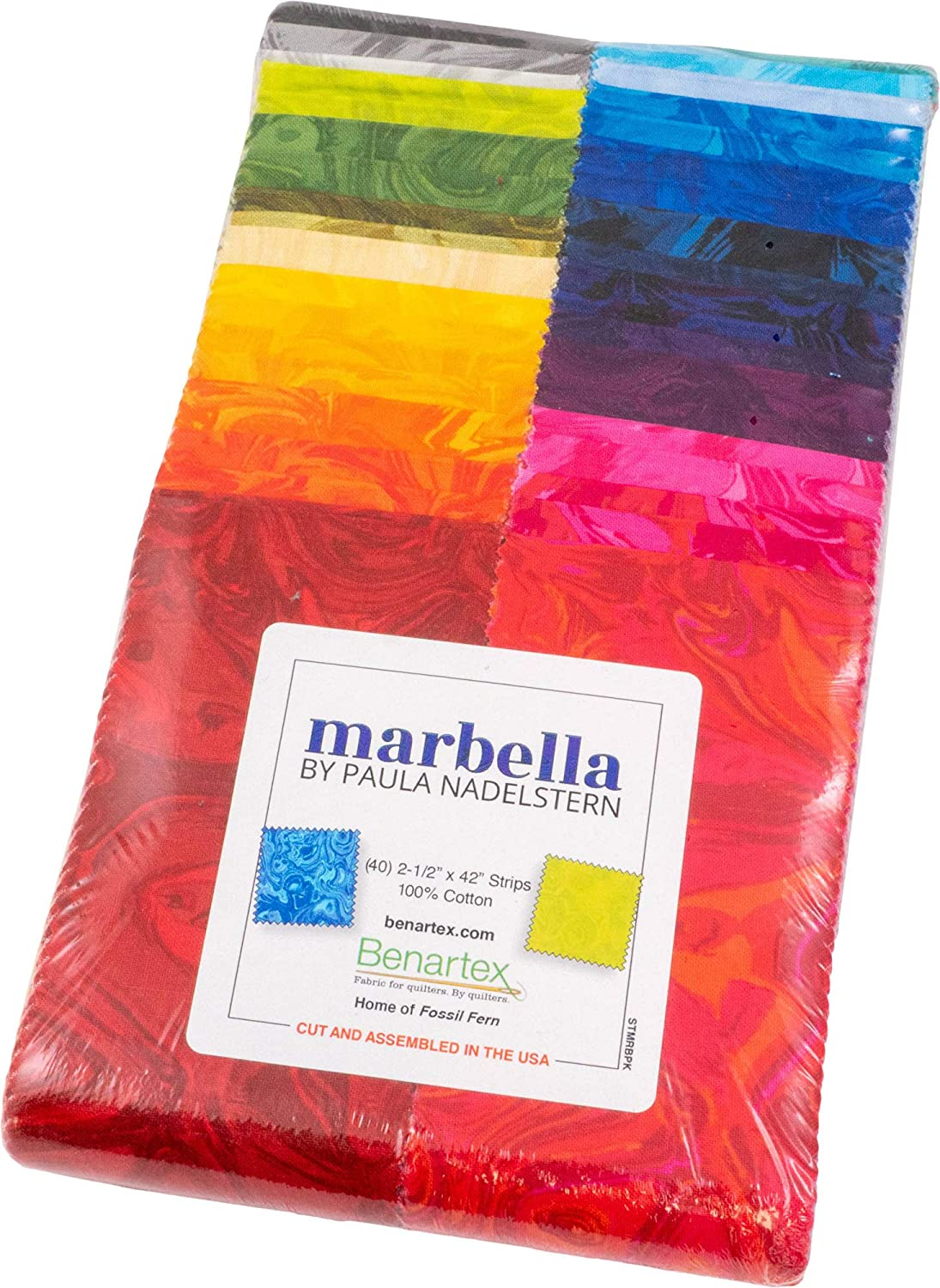 Paula Nadelstern Marbella Strip-Pies 40 Jelly Strips 2.5-inch Large special price !! Ro 2021 spring and summer new