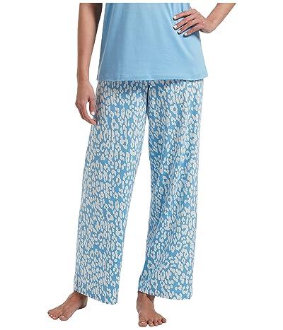 HUE Animal Shadow Long PJ Pants (Bella Blue) Women