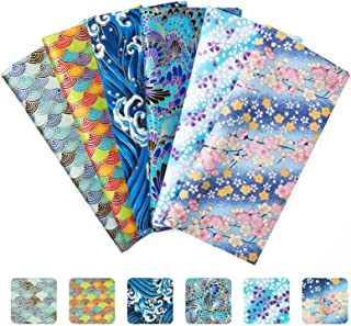 Tissu Patchwork, Comius Sharp 6 Pièces Tissus Coton Couture, Carrés de Tissu Patchwork en Coton, Tissus en Coton pour DIY ...