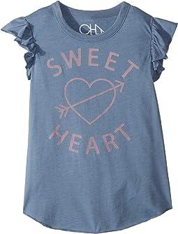 Soft Vintage Jersey Sweet Heart Tee (Little Kids/Big Kids)