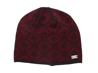Dale of Norway Christiania Hat (Ruby Melange/Dark Charcoal) Beanies
