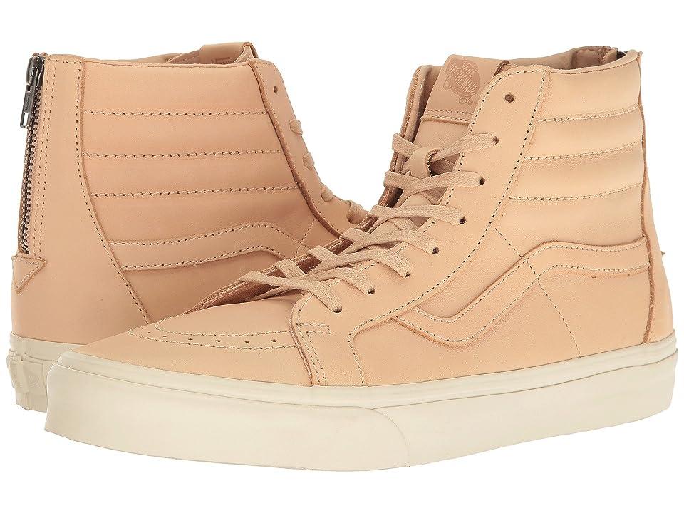 Vans Sk8-Hi Zip DX ((Veggie Tan Leather) Tan) Skate Shoes