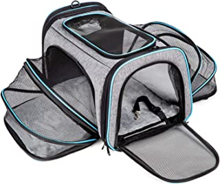 Cat Carrier Airline Approved Pet Carrier,Bertasche Expandable Soft Sided Dog Travel Carrier Bag with Removable Fleece Pad and Pockets