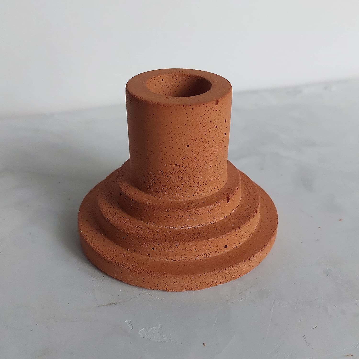 Ranking TOP17 Orange Modern Concrete Holder Taper Candle New life