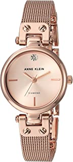 Anne Klein Women's Genuine Diamond Dial Mesh Bracelet Watch