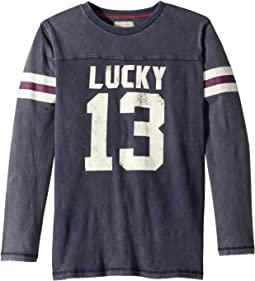 Lucky 13 Long Sleeve Football Shirt (Big Kids)