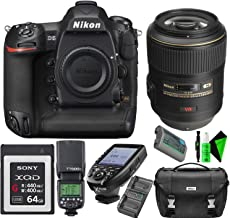 Nikon D5 DSLR Camera (Body Only, Dual XQD Slots) + Nikon 105mm F/2.8 VR AF-S Lens + Sony 64GB QXD Memory Card + GODOX TTL Speedlite + TTL Wireless Transmitter