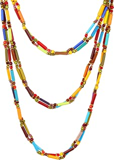 Dca Multi Glass Necklace for Women (4454)
