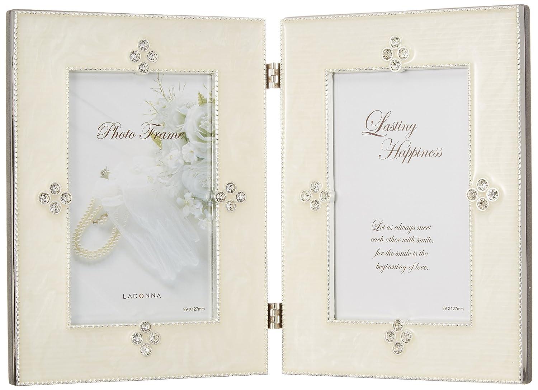 LADONNA フォトフレーム ホワイト ラグジュアリーコレクション MJN02-LD-WH