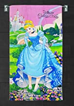 Sassoon Official Licensed Disney Princess Printed 100% Cotton 380 GSM Kids Bath Towel for Boys and Girls - 60 cm x 120 cm