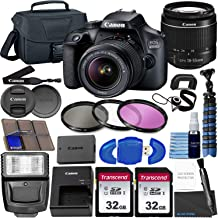 $359 » Canon EOS 4000D DSLR Camera w/Canon EF-S 18-55mm F/3.5-5.6 III Zoom Lens + 2X 32GB SD Card + Case + Filters + More